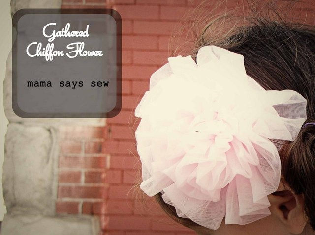 chiffon flower tutorial
