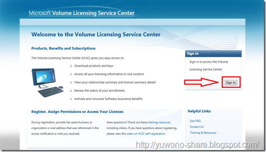 Microsoft Volume Licensing Service Centre 1