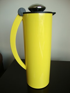 Nomos vacuum carafe by Peter K. Patzak for Alfi in bright yellow