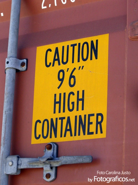 Caution High Container