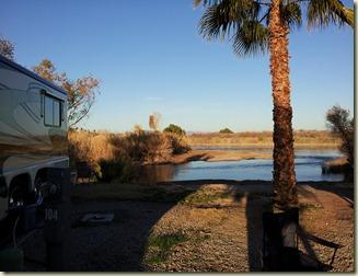 View behind us Colorado River Ehrenberg, CA