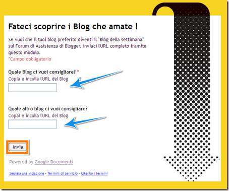 come votare blog preferito forum blogger