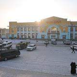シベリア鉄道の駅のひとつ、ウランウデ駅。