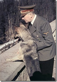 hitler and his dog at the balcony