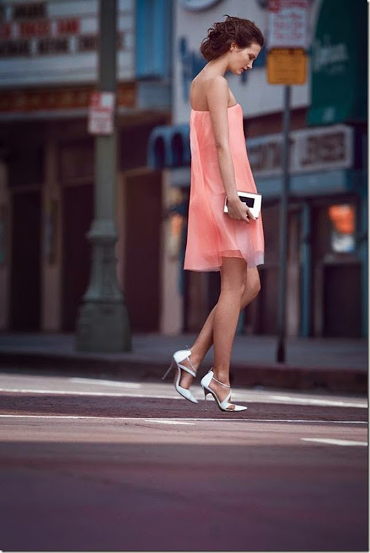lovely rose colored dress #fashion