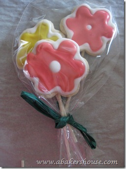 flower cookies packaged