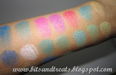 LA Colors artist palette in abstract swatch closeup, by bitsandtreats