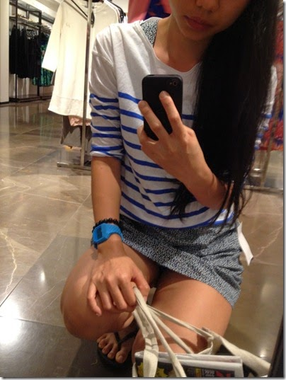 ZARA IFC Mall, HK blue-white-shirt