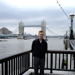 matt in front of the tower bridge in London, London City of, United Kingdom