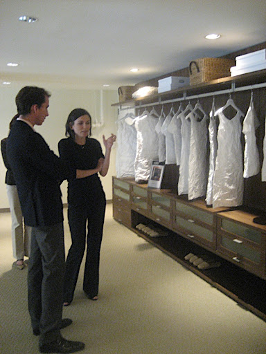 California Closet designer Carolyn Musher walks me through the showroom.