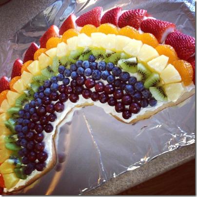 rainbow fruit cookie