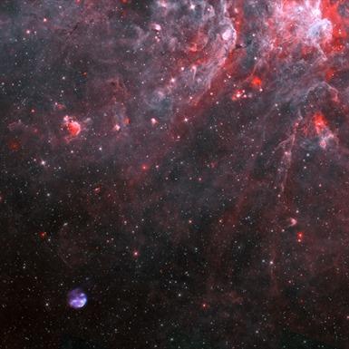 imagem de campo aberto da remanescente de supernova
