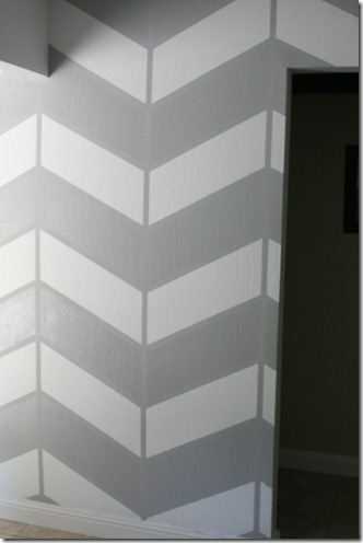living room project, herringbone wall (8)