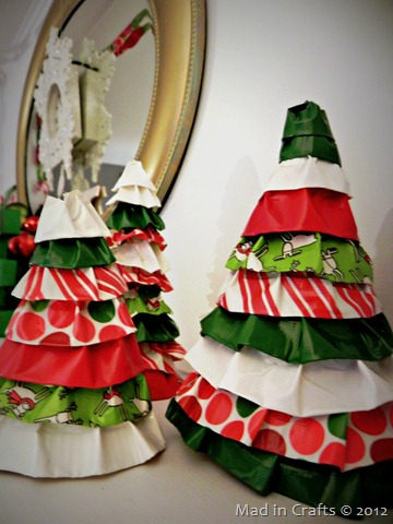 duck tape ruffle trees