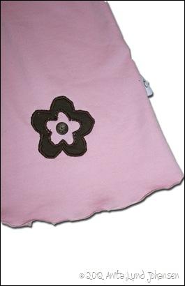 Kjole delt forskt Detalj blomst