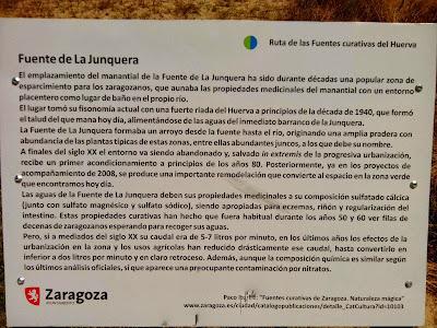 panel explicativo fuente medicinal Fuente de la Junquera Zaragoza