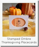 easy ombre thanksgiving placecard with name