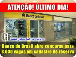 concursos - edital concurso BANCO DO BRASIL 2013 Escriturário