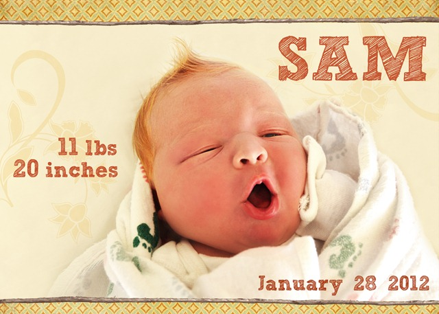 Sam birth announcement 1