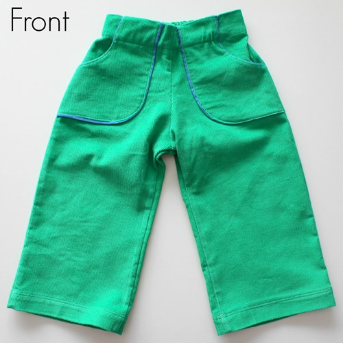 Green pants front