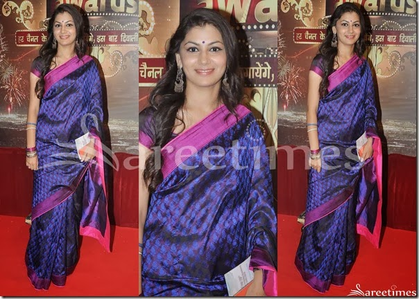 Black_Blue_Printed_Saree