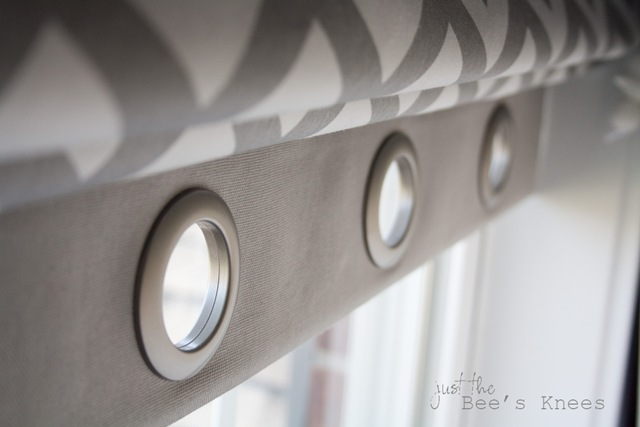 Roman blind with grommets from Just The Bee's Knees