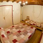 Chambre Rouge 1er étage chalet L'Orée du Bois - Location - Les Carroz