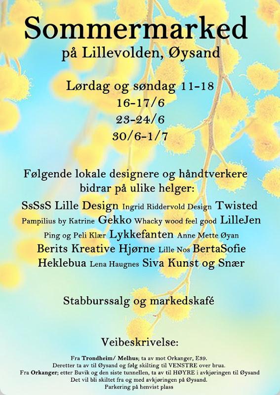Sommermarked 2012 Plakat A4 bilde