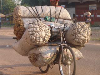 – Moyen de transport de braise à Mbuji-Mayi, le 17 juin 2011