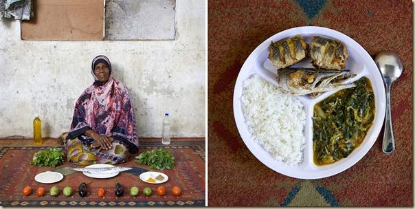 Portraits de grand-mères et leurs plats cuisinés (30)