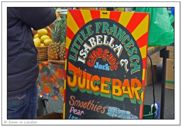 Little Francesca Juice Bar at Broadway Market