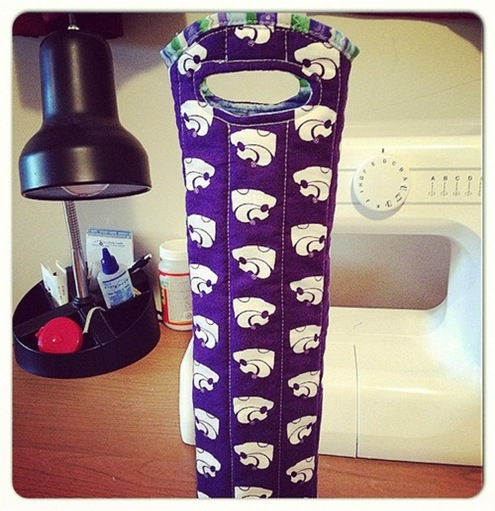 KState Wine Bottle Holder