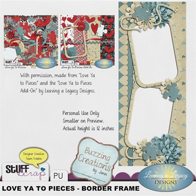 Leaving a Legacy Designs - Love Ya to Pieces - Border Frame Preview
