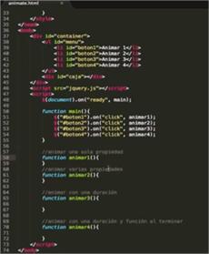 Cómo usar la función animate() en jQuery