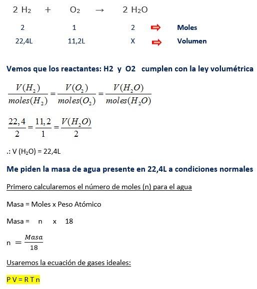 Estequiometria - ejercicios de ley volumetrica