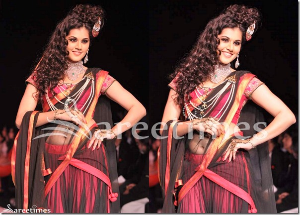 Taapsee_Short_Sleeves_Saree_Blouse
