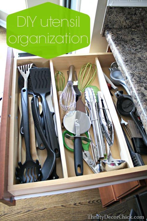DIY utensil organization