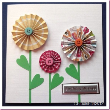 Card Concertina Flowers