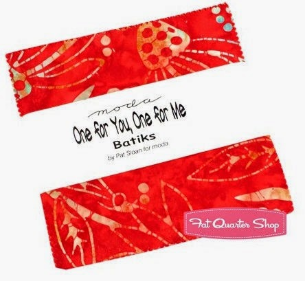One for You, One for Me Charm Pack by Pat Sloan for moda at the Fat Quarter Shop