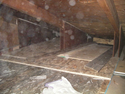 And made a floor for my attic to cover the hole. I will blow insulation over the top of this.