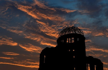 Domo da Bomba Atômica, no Parque Memorial da Paz, em Hiroshima, no Japão.