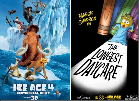 ICE AGE 4 with Simpsons short feature