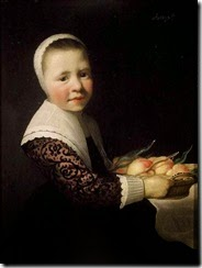 Aelbert-Cuyp-Portrait-of-a-girl-with-peaches