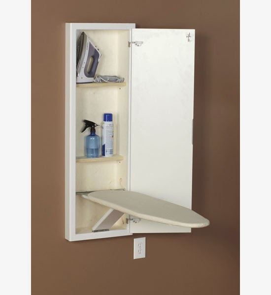 Hr_303 White Stowaway Ironing Board Cabinet
