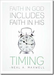 Faith in God includes faith in his timing 2