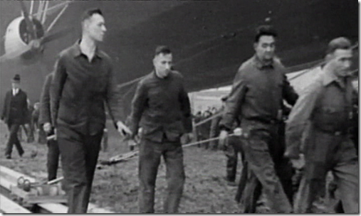 Ground crew with mooring tackle trolley