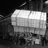Shanghai - Marché poisson - Tête en boites