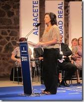 Clara Sánchez Medalla de Oro de Castilla-La Mancha 2011 (Foto EUROPA PRESS)