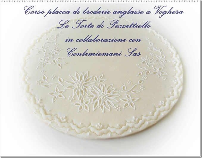 Corso placca in Broderie Anglaise