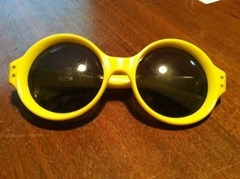 yellow Italian sunglasses